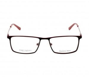 Full Rim Stainless Steel Rectangle Black Large Miki Ninn MNDM10 Eyeglasses