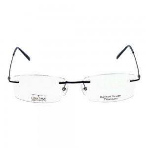 Rimless Metal Rectangle Blue Small Light Fly LFBM21 Eyeglasses