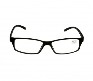 Black Rectangle (+1.75 Power) Polycarbonate Unisex Medium HFDM01BL Reading Glasses