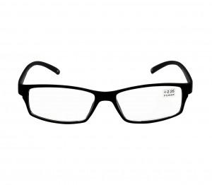 Black Rectangle (+2.25 Power) Polycarbonate Unisex Medium HFDM01BL Reading Glasses