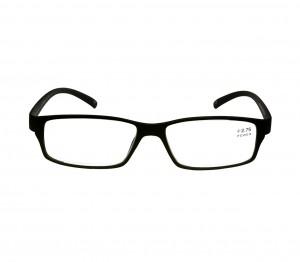 Black Rectangle (+2.75 Power) Polycarbonate Unisex Medium HFDM01BL Reading Glasses