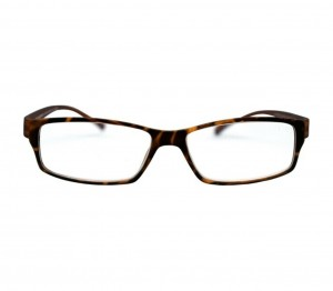 Brown Rectangle (+2.50 Power) Polycarbonate Unisex Medium HFDM01NN Reading Glasses