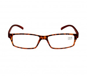 Brown Rectangle (+2.75 Power) Polycarbonate Unisex Medium HFDM01NN Reading Glasses