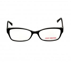 Full Rim Polycarbonate Oval Black Medium Vision Express 31615 Eyeglasses