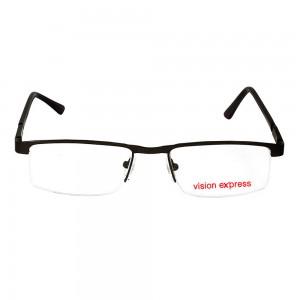 Half Rim Metal Rectangle Gun Metal Medium Vision Express 29390 Eyeglasses