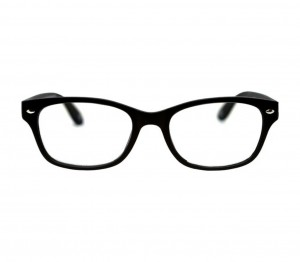 Blue Shield (+1.50 Power) Computer Glasses: Full Rim Rectangle Black Polycarbonate Unisex Medium HFCU08BL