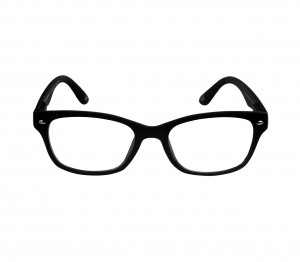 Blue Shield (Zero Power) Computer Glasses: Full Rim Rectangle Black Polycarbonate Unisex Medium HFCU08BL