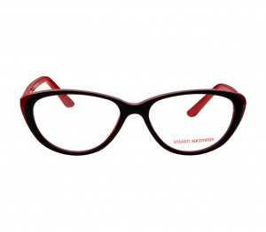Blue Shield (Zero Power) Computer Glasses: Full Rim Cat Eye Black Polycarbonate Medium 49051B