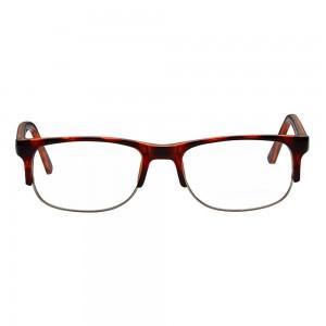 Full Rim Polycarbonate Rectangle Brown Medium Vision Express 29409 Eyeglasses