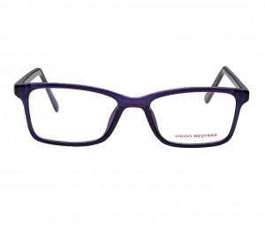 Full Rim Polycarbonate Rectangle Clear Crystal Medium Vision Express 29417 Eyeglasses