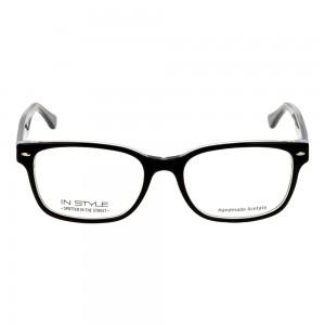 Full Rim Acetate Rectangle Black Small In Style ISBM04 Eyeglasses