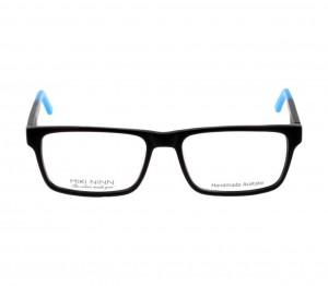 Full Rim Acetate Rectangle Black Large Miki Ninn MNBM08 Eyeglasses