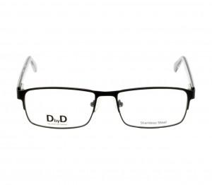Full Rim Stainless Steel Rectangle Black Large DbyD DBAM32 Eyeglasses