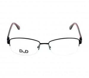 Half Rim Monel Almond Black Medium DbyD DBCF07 Eyeglasses