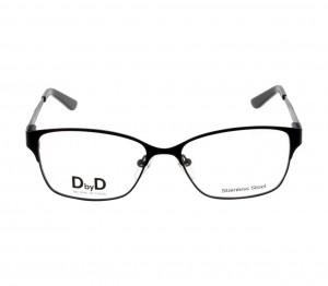 Full Rim Stainless Steel Cat Eye Black Medium DbyD DBCF11 Eyeglasses