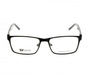 Full Rim Stainless Steel Rectangle Black Large 5th Avenue FACM02 Eyeglasses