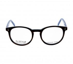 Full Rim Acetate Round Blue Medium In Style ISEM23 Eyeglasses