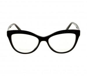 Full Rim Acetate Rectangle Black Medium Miki Ninn MNDM28 Eyeglasses