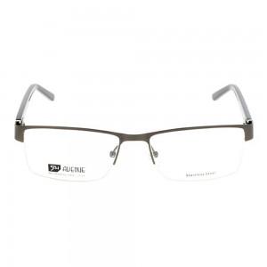 Half Rim Stainless Steel Rectangle Grey Large 5th Avenue FACM34 Eyeglasses