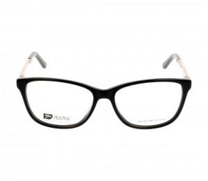 Full Rim Acetate Almond Black Medium 5th Avenue FAEF04 Eyeglasses