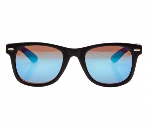 Rectangle Blue Mirror Polycarbonate Small Vision Express 51075 Kids Sunglasses