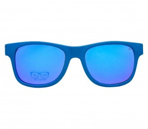 Rectangle Blue Mirror Polycarbonate Small Vision Express 51065 Kids Sunglasses
