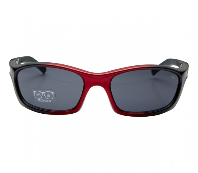 Rectangle Red Solid Polycarbonate Small Vision Express 51062 Kids Sunglasses