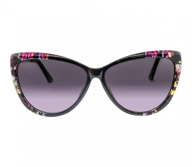 Cat eye Grey Polycarbonate Full Rim Large Vision Express 41271 Sunglasses