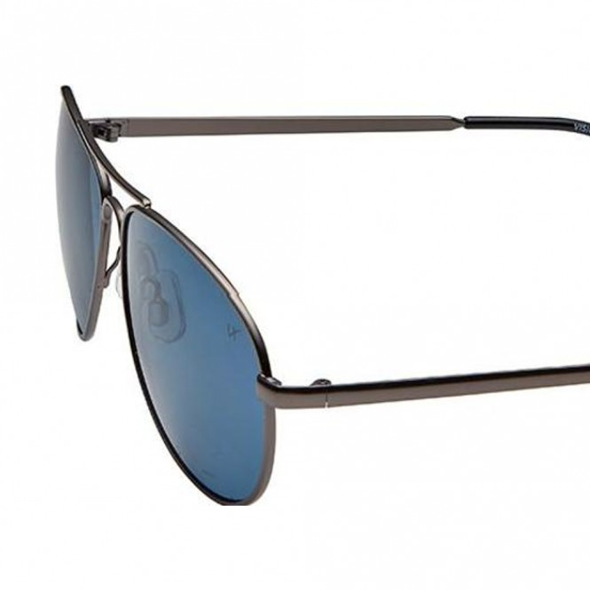 Aviator Blue Metal Full Rim Medium Vision Express 12026 Sunglasses