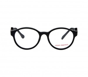 Round Black Acetate Small Vision Express 61279 Kids Eyeglasses