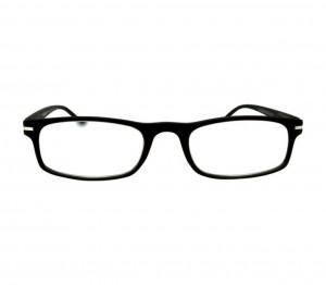 Black Rectangle (+1.0 Power) Polycarbonate Unisex Medium HFDU02BL Reading Glasses