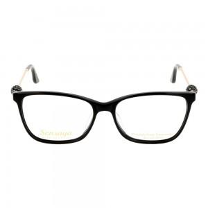 Full Rim Acetate Rectangle Black Small Sensaya SYFF09 Eyeglasses