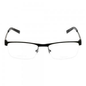 Half Rim Titanium Rectangle Black Men Large Julius JUFM18 Eyeglasses