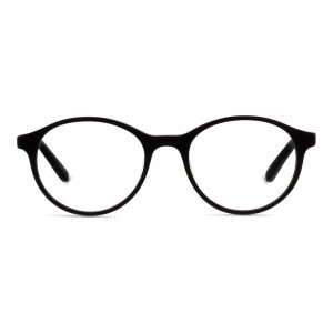 Full Rim Acetate Round Black Medium Julius JUEM04 Eyeglasses