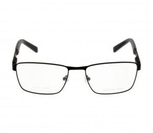 Full Rim Stainless Steel Rectangle Black Medium Julius JUDM09 Eyeglasses