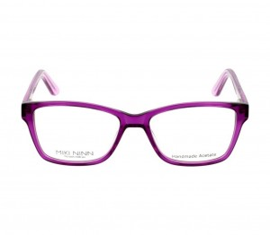 Full Rim Acetate Rectangle Violet Medium Miki Ninn MNAF71 Eyeglasses