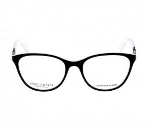 Full Rim Acetate Round Black Medium Miki Ninn MNFF05 Eyeglasses