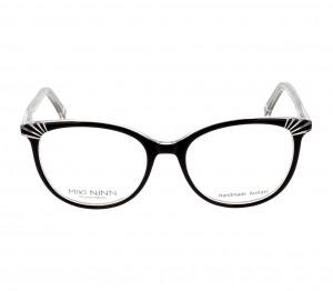 Full Rim Acetate Almond Black Medium Miki Ninn MNFF08 Eyeglasses