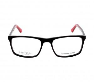 Full Rim Acetate Rectangle Black Medium Miki Ninn MNFM08 Eyeglasses