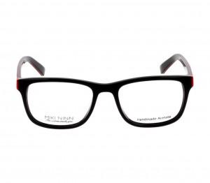 Full Rim Acetate Rectangle Black Medium Miki Ninn MNFM10 Eyeglasses