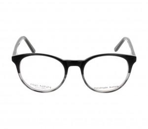 Full Rim Acetate Round Black Medium Miki Ninn MNFM03 Eyeglasses