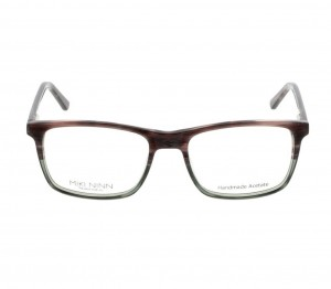 Full Rim Acetate Rectangle Brown Medium Miki Ninn MNFM04 Eyeglasses
