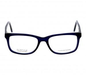 Full Rim Acetate Rectangle Blue Small In Style ISDM04 Eyeglasses
