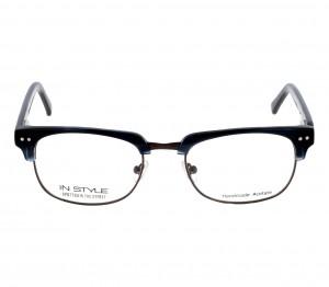 Full Rim Acetate Rectangle Blue Small In Style ISH49 Eyeglasses