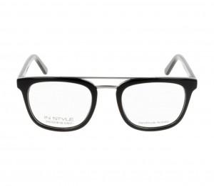 Full Rim Acetate Round Black Medium In Style ISFM03 Eyeglasses