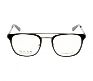 Full Rim Metal Round Black Medium In Style ISFM04 Eyeglasses