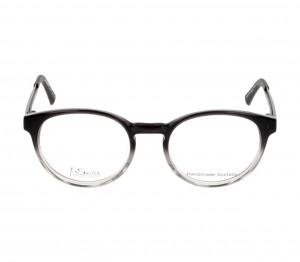 Full Rim Acetate Round Grey Medium I-Switch SWEM01 Eyeglasses