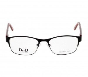 Full Rim Stainless Steel Almond Black Medium DbyD DBBF13 Eyeglasses