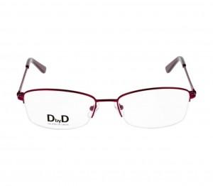 Half Rim Monel Rectangle Violet Medium DbyD DBFF02 Eyeglasses