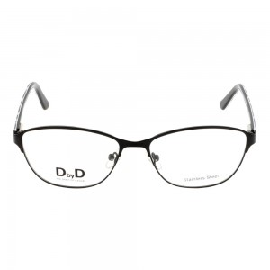 Full Rim Metal Almond Black Small DbyD DBFF14 Eyeglasses
